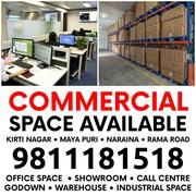 Office Godown Warehouse for Rent in Kirti Nagar